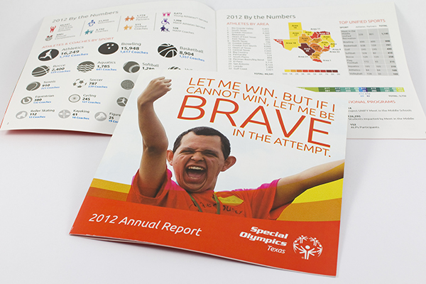 Special Olympics Texas annual report by Kara Fuhlbrugge