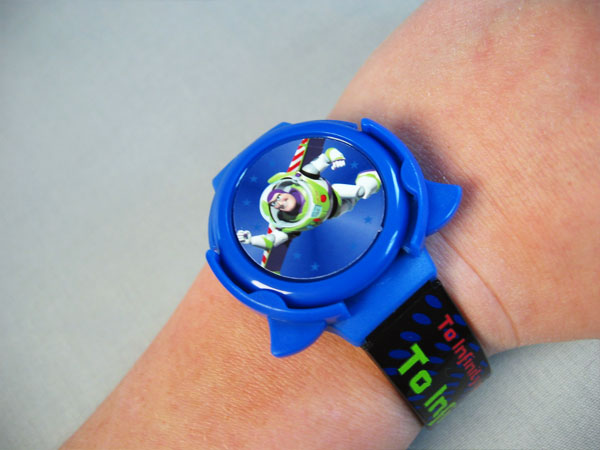 Disney Buzz Lightyear interchangeable disc shooter watch by Kara Fuhlbrugge