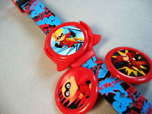Disney Incredibles interchangeable disc shooter watch by Kara Fuhlbrugge