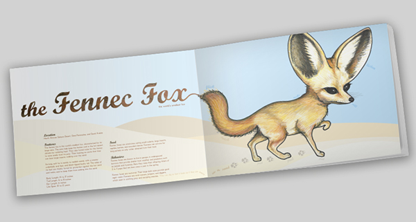 Fennec Fox Book Spread by Kara Fuhlbrugge