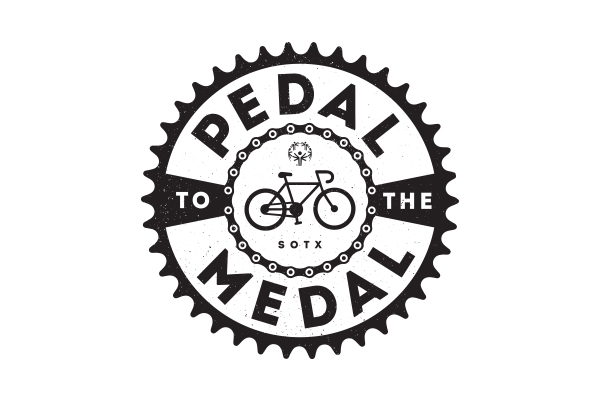 Special Olympics Texas Pedal to the Medal logo by Kara Fuhlbrugge