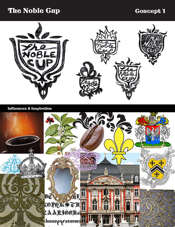 The Noble Cup logo concept by Kara Fuhlbrugge
