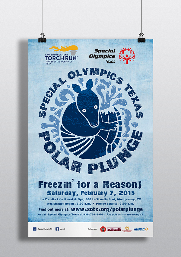 Special Olympics Texas Polar Plunge poster by Kara Fuhlbrugge