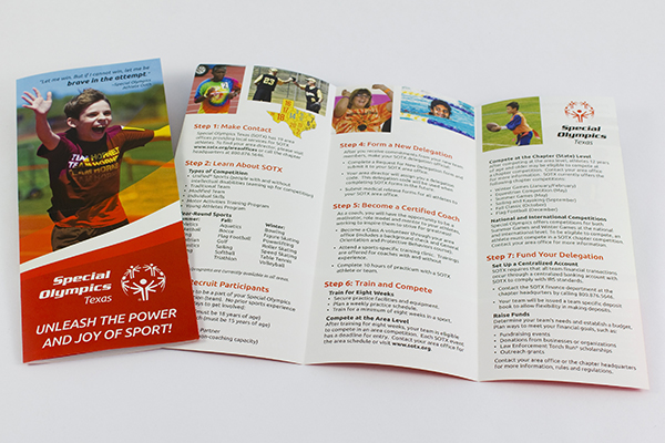 Special Olympics Texas Brochure by Kara Fuhlbrugge