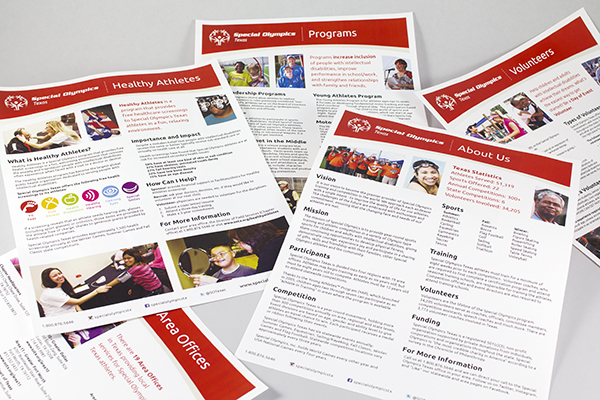 Special Olympics Texas Info Sheets by Kara Fuhlbrugge