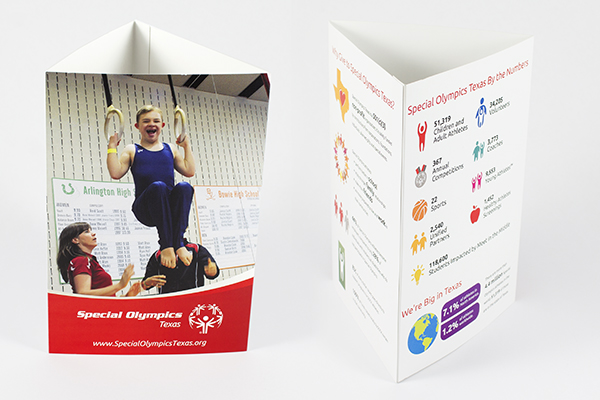Special Olympics Texas Table Tent by Kara Fuhlbrugge