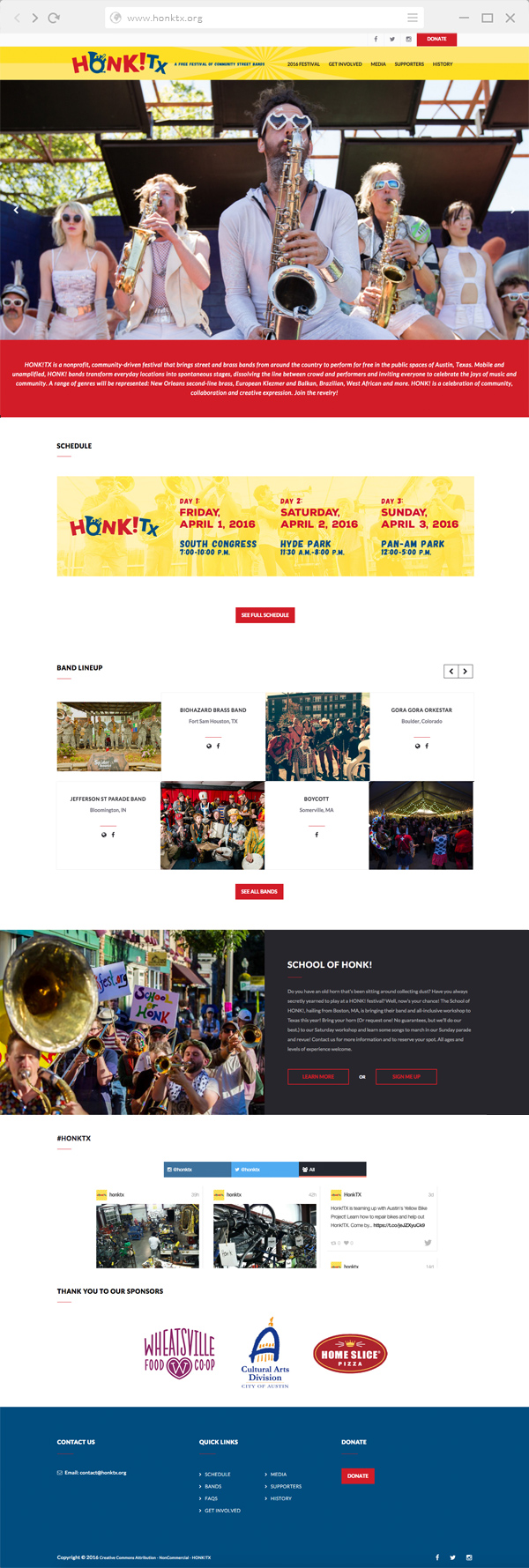 HONK!TX Website by Kara Fuhlbrugge